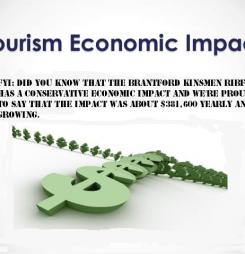 Tourist impact on Brantford economy